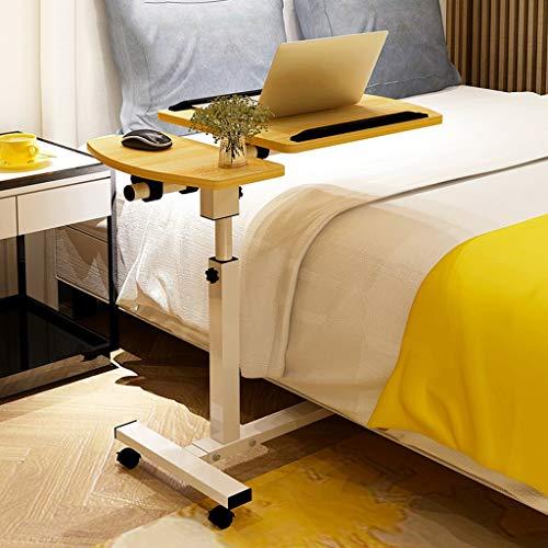 Verstelbare Kantelen Overbed Table Mobile Notebook Table Computer Desk Bedside Slaapbank Learning Desk Folding Laptop Tabel Verstelbare Tafel (Color : Walnut, Size : 60x40CM)