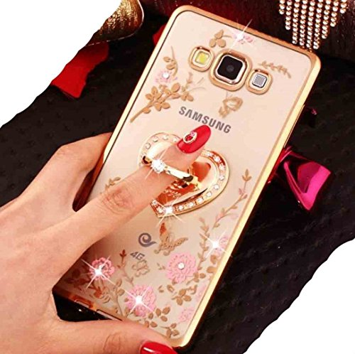 WEIFA Galaxy Note8 Vinger Ring Roterende Stand Case, Bling Diamonds Parfum Fles Stijl Clear Blossoms Cover, Nieuwste Zachte Glanzende Bumper Zeer Dun Slim Case Voor Samsung Galaxy Note 8