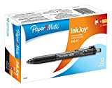 Sanford Paper Mate Inkjoy 300RT Retractable Ballpoint Pens, Black, 12-Pack