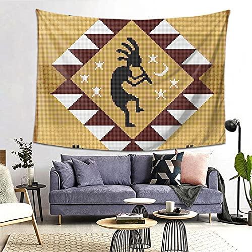 ZORIN Tapices para colgar en la pared, 60 x 80 pulgadas, tapiz étnico norteamericano Kokopelli del suroeste para dormitorio, salón, dormitorio, manta para pared