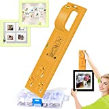 Pointool Picture Hanging Tool with Level for Marking Position,220 Pieces Hanger Accessories Hang and Level Picture Hanging Tool Picture Hanger Tool Frame Hanger-Easy Wall Hang and Level Tools