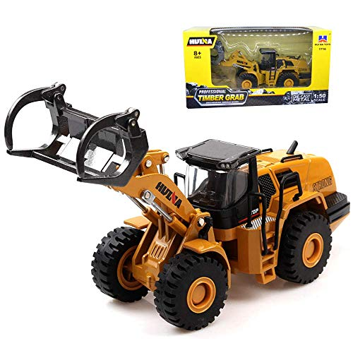 Gemini&Genius 1/50 Scale Die-cast Dump Truck Timber Grab Truck Engineering Vehicle Construction Alloy Models Toys for Kids and Decoration for House (Timber Grab Truck)