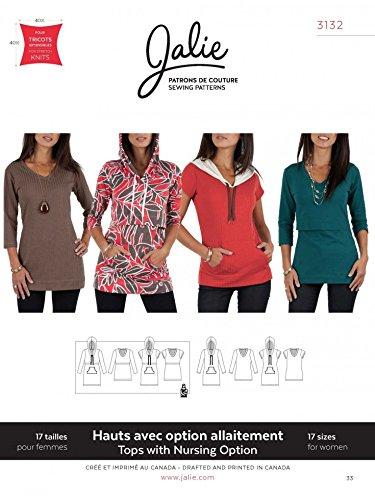 Jalie Damen-Schnittmuster 3132 Stillkleidung, normale T-Shirts und Tuniken.