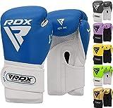 RDX Guantes de Boxeo Niño para Entrenamiento y Muay Thai | Convex Cuero...