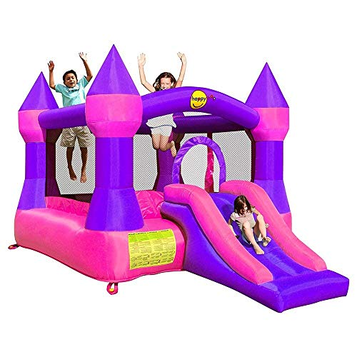 Happy Hop 9017P Castle Bouncer with Slide, Multicolour