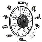 Ebike Conversion Kit 48V 1200W 26' Direct Drive Electric Bike Conversion Kit - Rear Wheel Electric Bicycle Hub Motor Kit (Rear/LCD/Thumb)