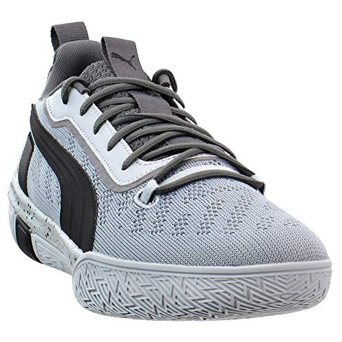 PUMA Mens Legacy Low Basketball Casual Shoes, Grey, 11.5