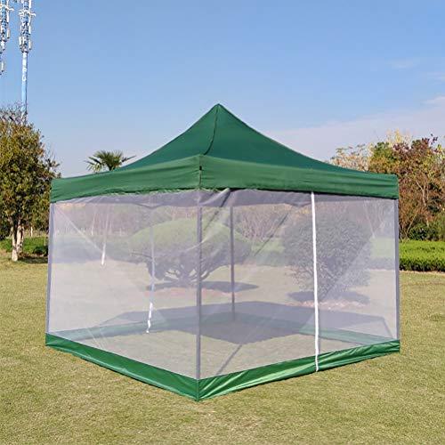 Zhyaj Carpa Jardín 3X3m Gazebo con Mosquitero De 4 Lados - Impermeable En La Parte Superior - Gazebo Plegable para El Garden Camping,Verde,3 * 3m