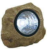 Moonrays 91211 Rock Solar Spotlight with Built in Key Hider, 6-Lumens.35-Watt, 120-degree Beam Angle, White LED Light, One Rechargeable NiCd Battery Included, 0