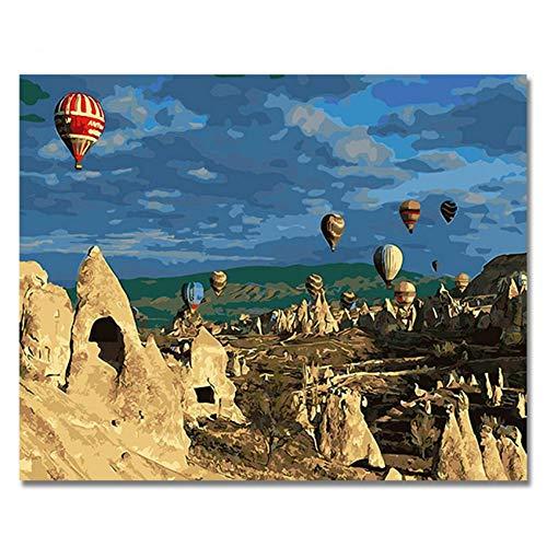 GKJRKGVF Ballon Foto's Schilderen Door Getallen DIY Digitale Stijl Muurolie Canvas Art Kleurplaten door cijfers Artwork
