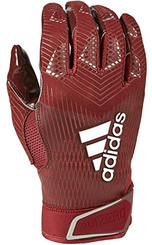 adidas Adizero 8.0 Football Receiver's Gloves Maroon Small