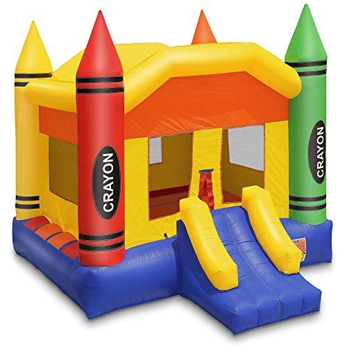 Cloud 9 Commercial Grade Crayon Castle Bounce House with Blower - 100% PVC 17' x 13' Inflatable Bouncer