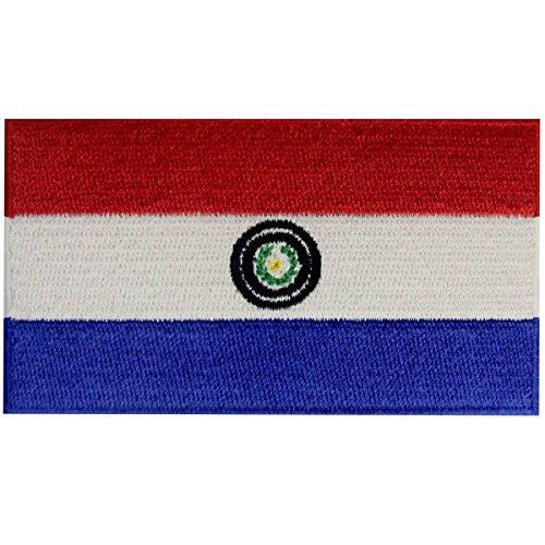 Paraguay-Flagge Flicken Bestickter Aufnäher zum Aufbügeln/Annähen