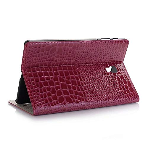 GHC PAD Cases & Covers For Samsung Galaxy Tab A2 10.5 2018 T590, Card Slot Cover Luxury Crocodile PU Leather Folio Stand Case For Samsung T590 (Color : Rose)