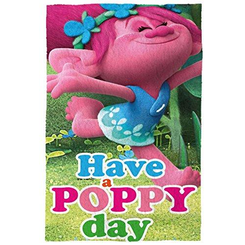 """Trolls TR17033 """"Have a Poppy Day"""" Manta Polar Fleece, 150 x 100 cm"""