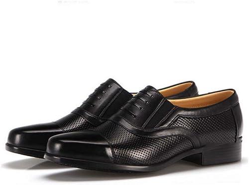 FUYY Herren Sommer Leder Openwork Eyeliner Sandalen Sergeant Dreiteilige Formale Kleidung Schuhe Leder Offen Atmungsaktiv Leichter Komfort (38-46)