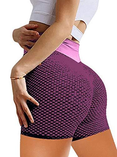 Special-U FivePoint Pants Peach Hip Shorts Fitness Yoga Pants High Waist Jacquard Honeycomb Bubble Leggings Fitness Pants OPP wondeful