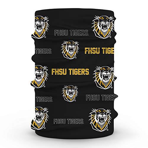 FHSU Fort Hays State Tigers Black Neck Gaiter All Over print Vive La Fete