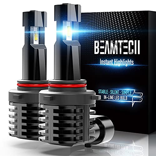 BEAMTECH 9012 LED Bulb, Fanless In Line HIR2 Halogen Replacement 6500K...