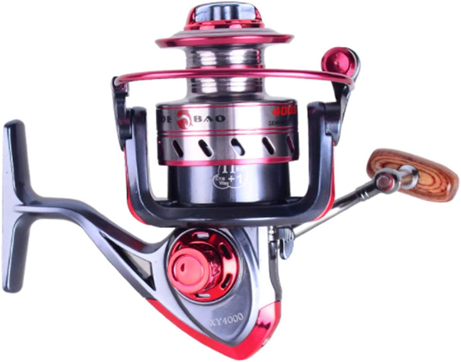 Carriemeow Spinning Fishing Reel 12+1 Bearings Left Right Interchangeable Handle for Saltwater Freshwater Fishing with Double Drag Brake System