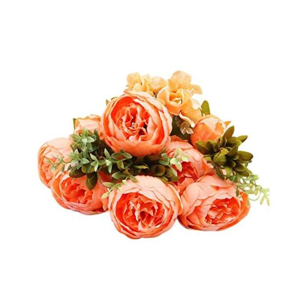 Artificial Fake Flower, Elevin(TM) Artificial Fake Peony Silk Flower Bridal Hydrangea Home Wedding Decor