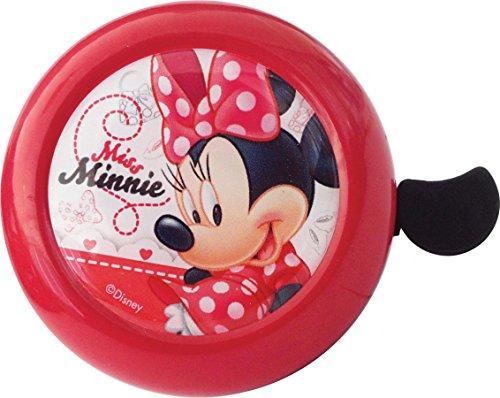 Disney Fahrradklingel und Helm Minnie Mouse Metall Fahrradhelm mit Schraubbefestigung Kinder, Rot/Weiß, M