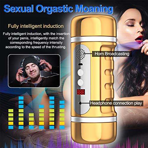 USB Rechargeable Automatic Piston Telescopic Rotation Handsfree Powerful Modes Multi Speeds Sleeve Stroker Men Oral S(exy Toy for Male, Electric Sexy Underwear Device for Men