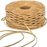 Raffia Paper Ribbon 459 Yards Craft Packing Paper Twine for Gift Wrapping, DIY Craft, Decoration and Weaving