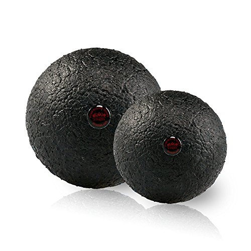 diMio Epp Hartschaum Massageball Zur Selbstmassage Faszien Ball Faszienball in 2 Größen (Schwarz, 10)