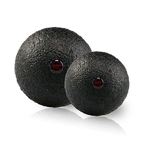 diMio Epp Hartschaum Massageball Zur Selbstmassage Faszien Ball Faszienball in 2 Größen (Schwarz, 8)