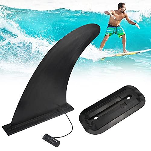 VCRANONR 2 aletas de SUP Center para tabla de surf de plástico ABS, aletas extraíbles, reutilizables, para kayak y surf