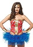 Leg Avenue- Mujer Maravilla, Color rojo, Small (EUR34-36) (A275901217)