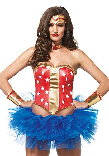 Leg Avenue Kit Héroïne Wonder Woman Rouge/o in vita S