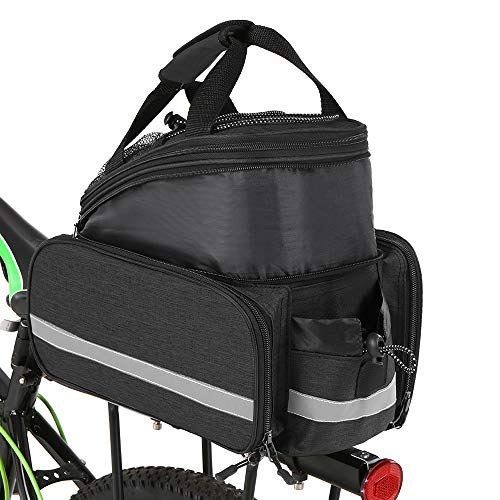 Yialia Bicycle Rear Seat Bag Multifunction Expandable Waterproof MTB Bicycle Pannier Bag Bike Rack Bag With Rain Cover Bicycle Pannier Bag
