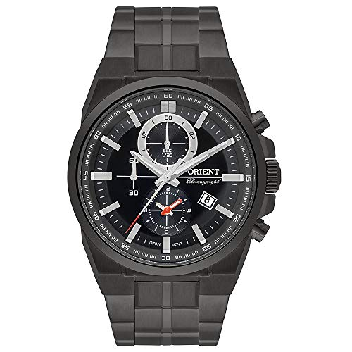Relógio ORIENT masculino cronógrafo fumê MYSSC012 G1GX