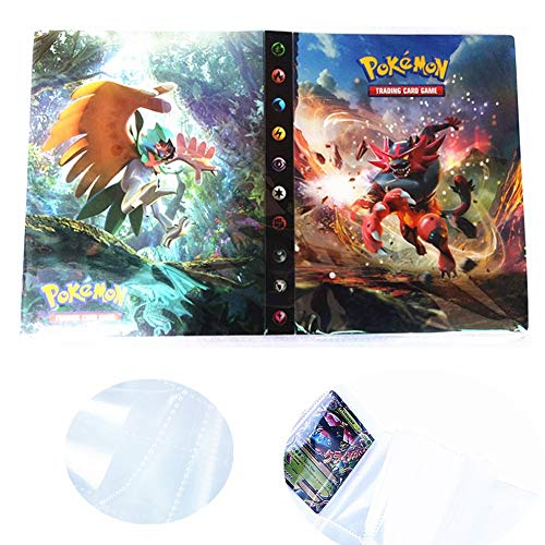 Pokemon Trading Tarjeta Protector Sleeves Trading Card Album Binder Tarjetas Coleccionable Álbumes Almacenamiento 240 Tarjeta (Incineroar)