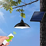 Outdoor Solar Lights,Tomshine IP65 Waterproof Outdoor Pendant Light with Remote Control,Brightness Adjustment Solar Shed Light for Garden Patio