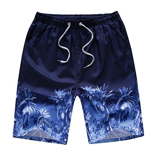 Rera Herrem Sommer Große Größen Bermuda mit verschieden Beach Motiv Drucken Schnelltrocknend Strand Shorts Gummizug kurze Hose Badehose