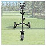 JLDN Chariot Golf 3 Roues, Chariot de Golf avec Porte-gobelet Frein Au Pied Golf Cart Pliant Une Seconde pour L'Ouvrir Et Le Fermer,Black