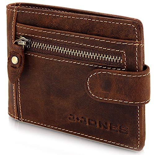 Portafoglio in pelle con fermasoldi - Portafoglio uomo con protezione RFID slim - Portafoglio slim con clip dollaro per uomo