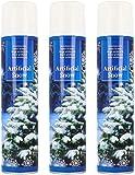 com-four 3X Kunstschnee - Spraydose mit Dekoschnee - Schneespray zum Dekorieren zu Weihnachten (03 Stück - 300ml/Schnee)
