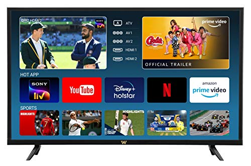 VW 80 cm (32 inches) HD Ready LED Smart TV VW32S (Black) (2021 Model)