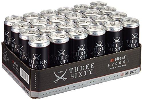 Three Sixty Energy Wodka, EINWEG (24 x 0.33 l)