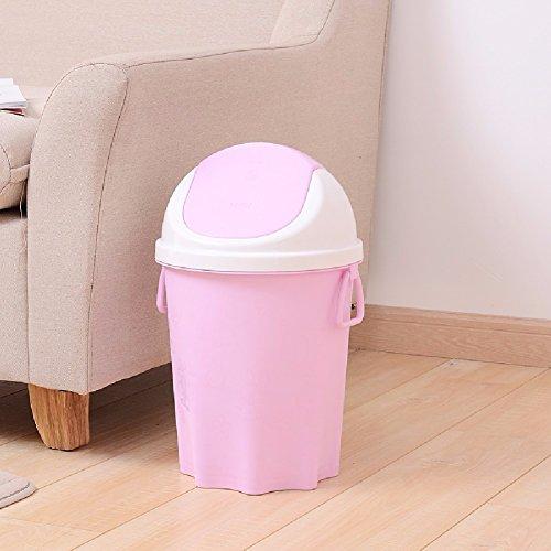 HQLCX Bacs à ordures Les Toilettes Salon - Cuisine De Style Européen Avec Couvercle,Violet