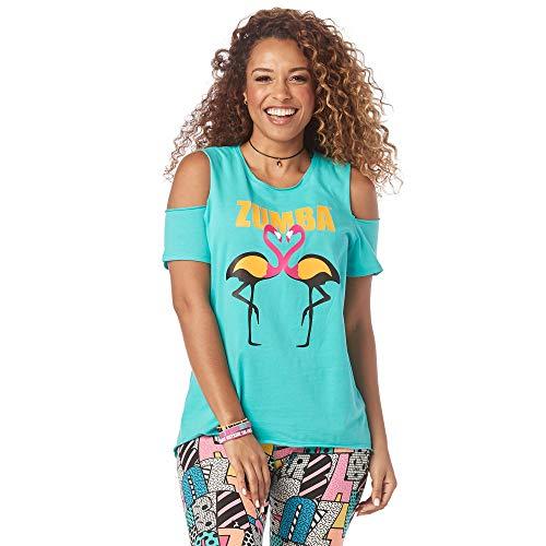 Zumba Camiseta de diseño de impresión de Moda para Mujer Grande Teal mí Todo
