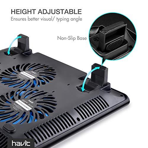 havit HV-F2056 15.6'-17' Laptop Cooler Cooling Pad - Slim Portable USB...