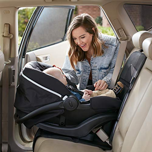 Magnelex Car Seat Protector, Largest Cover, Extra Thick Padding and Waterproof 600D Polyester, 2 Large Pockets, Front or Rear Use, Latch Compliant Car Seat Protector