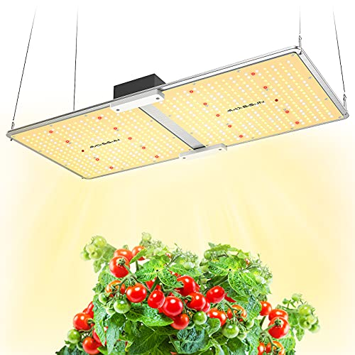 MAXSISUN 200W Grow Light, Remote Control Dimmable PB 2000 Pro LED Grow Lights for Indoor Plants, Full Spectrum High-Performance Samsung Diodes & Mean Well Driver for a 3x3 Grow Tent Veg and Flowering