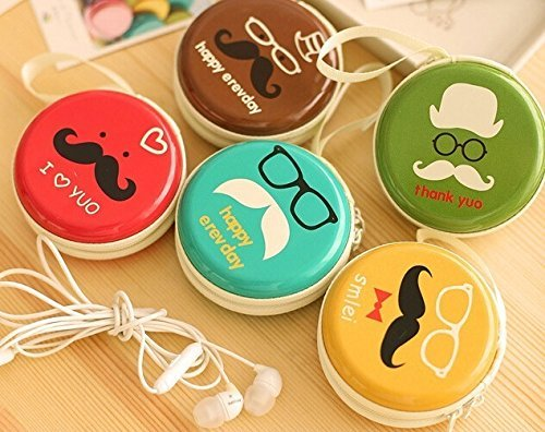 Durable Tin Carry Case Earphone Pouch Holder