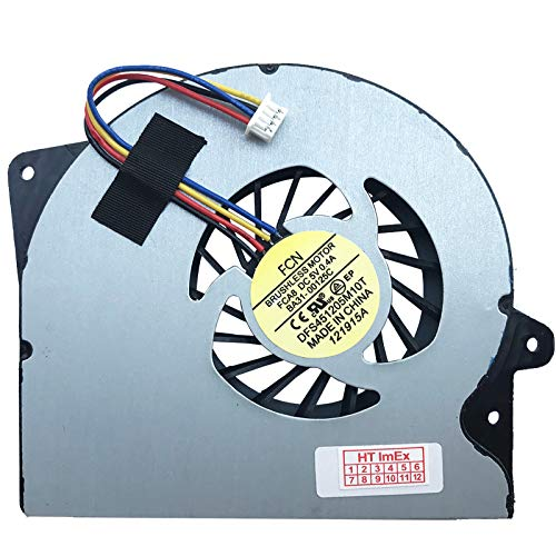 (CPU Verison - 5V) Lüfter Kühler Fan Cooler kompatibel für ASUS ROG G751JT-T7019H, G751JT-T7093H, G751JT-T7145H, G751JT-T7032H, G751JT-T7094H, G751JT-T7179T, G751JY-DH71, G751JY-T7061H, G751JY-T7271H